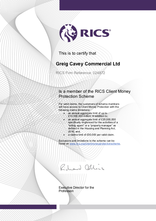 RICS Client Money Protection Certificate_301